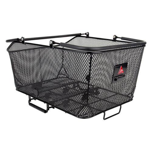 Axiom Market Basket LX Mesh Rear QR Bicycle Racktop Basket Black