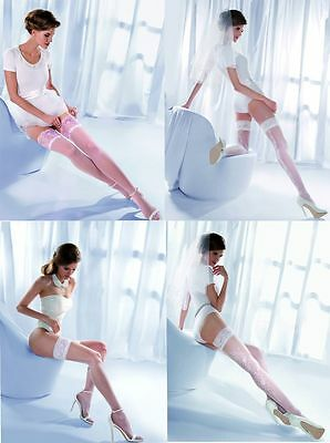 Genossenschaft Beautiful Wedding Bridal Stay Ups White Stockings Hold Ups Hosiery Gabriella