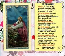 Agony in the Garden  (My Daily Prayer on back)  - Laminated Holy Card