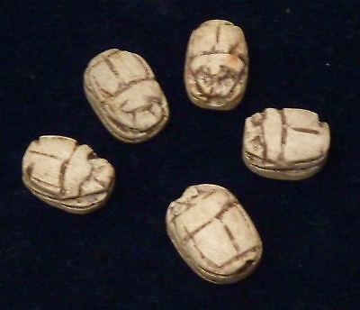 5 Skarabäen aus Stein 2 cm lang je ca handgeschnitzt