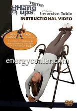 Inversion Table Instructional DVD Teeter Hang Ups  EP-550, EP-650, EP-850 950