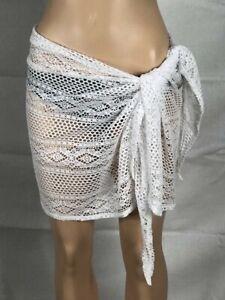 78eb0f5e9912f Women's NWT Dotti Paradise Crochet Sarong Cover-Up White One-Size | eBay