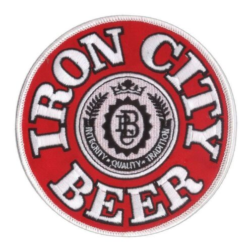 """New 4 3//4/"""" Iron City Beer Embroidered Patch Pittsburgh Brewing Blue Collar USA"""