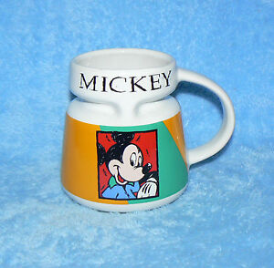 Image Is Loading Disney Mickey Mouse Wide Bottom Chubby Travel Coffee