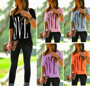 Women-Loose-Short-Sleeve-Cotton-Casual-Blouse-Shirt-Tops-Fashion-Summer-T-shirt