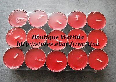 Lots de bougies chauffe-plats colorées et parfumées (photophore) PARFUM AU CHOIX