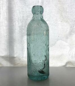 Albany-NY-1886-Dated-Hutch-Hutchinson-Aqua-Bottle-B-J-E-MULLEN