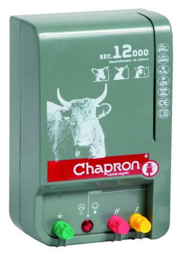 Chapron weidezaungerät sec 12000 Sauce 230 voltios adaptador de alimentación para el ganado vacuno y vacas