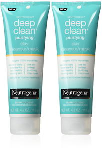 2X-Neutrogena-Deep-Clean-Mask-Cleanser-Purifying-Clay-4-2-Ounce-124ml