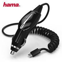 Hama KFZ-Ladegerät Ladekabel Micro-USB Spiralkabel E-Book Handy Tablet Navi Auto