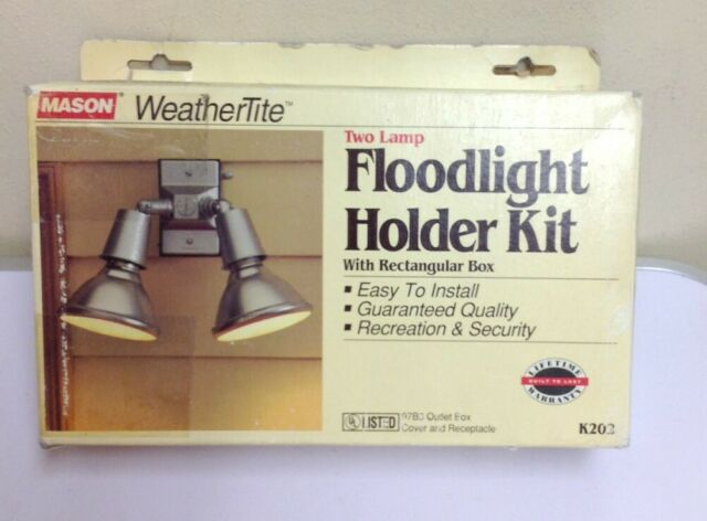 Mason WeatherTite 2 Lamp Floodlight Holder Kit bronze finish K202BR 97B3 outdoor