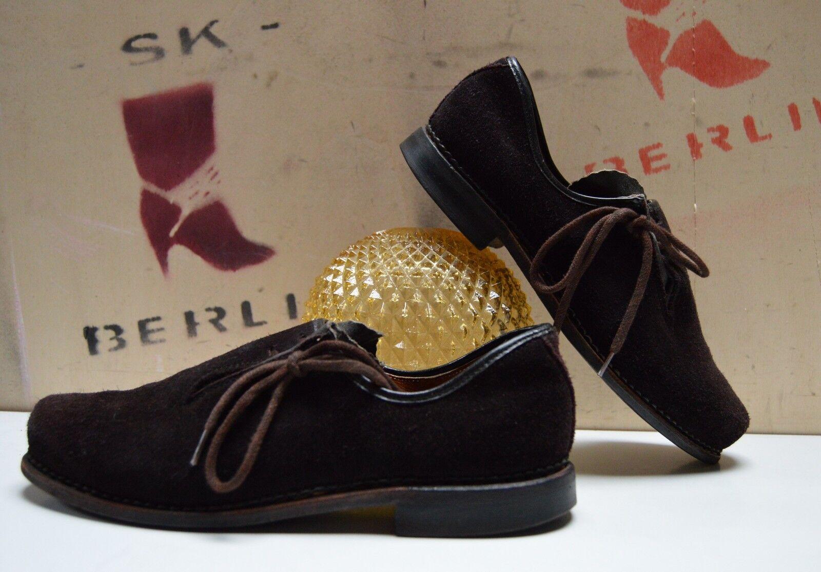 antik Herren Trachten Schuhe Halbschuhe TRUE Vintage Folklore braun Braun loafer