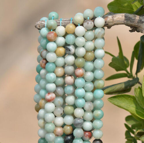"""15/"""" High Quality Amazonite Gem Stone Loose Beads Strand Jewelry Finding Making"""