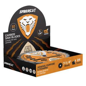 DuraDrive SABERCUT 7-1/4 in. x 24-Tooth Carbide Framing Saw Blade (10-Pack)
