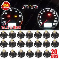 20x 6000K White T4/T4.2 Wedge LED Instrument Panel Dashboard Interior Light Bulb