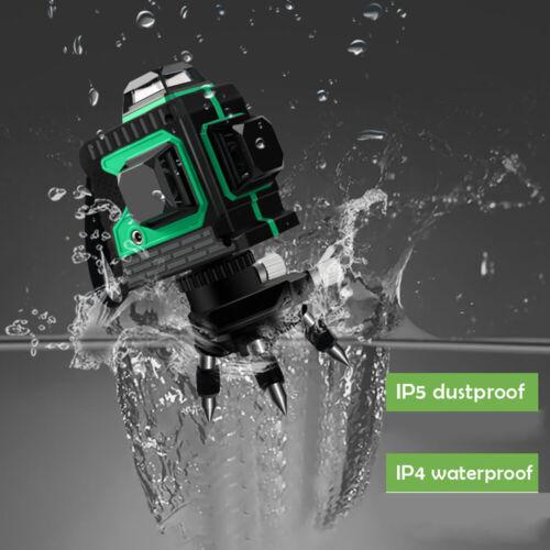 12 Linien 360° Selbstnivellierender 3D Kreuzlinienlaser Wasserwaage Rot Laser DE