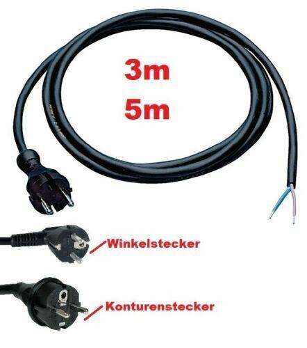 Anschlussleitung Anschlußkabel mit Schuko-Stecker CEE 3 od 5m Geräte Maschinen