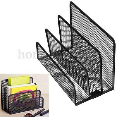 Mesh Letter Sorter Black Mail Document Tray Desk Office File Organiser Business