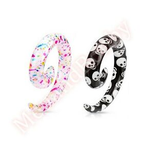Spiral-Ear-Taper-Stretcher-Expander-Body-Jewellery-CHOOSE-DESIGN-SINGLE-OR-PAIR