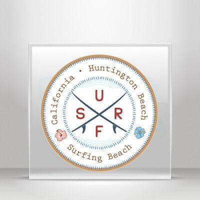 Decal Sticker travel Surf Huntington beach California r A19 3ZZX3