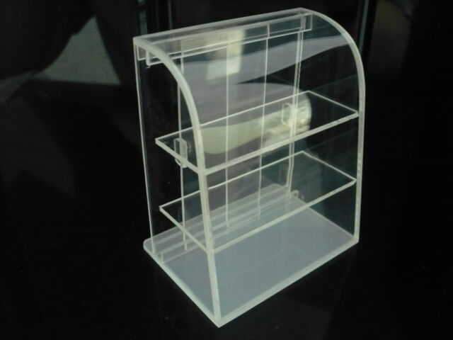 Small Mini Clear Acrylic Table Top Display Unit Dollhouse Miniature Supply Deco