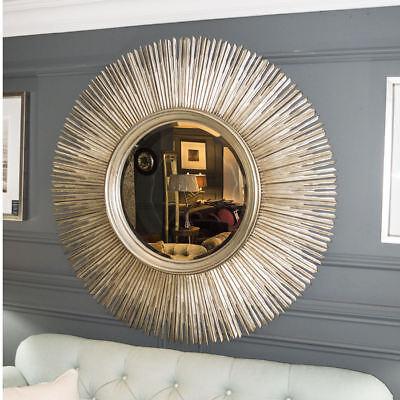 Rv Astley Huge Sun Sunburst Round Antique Silver Wall