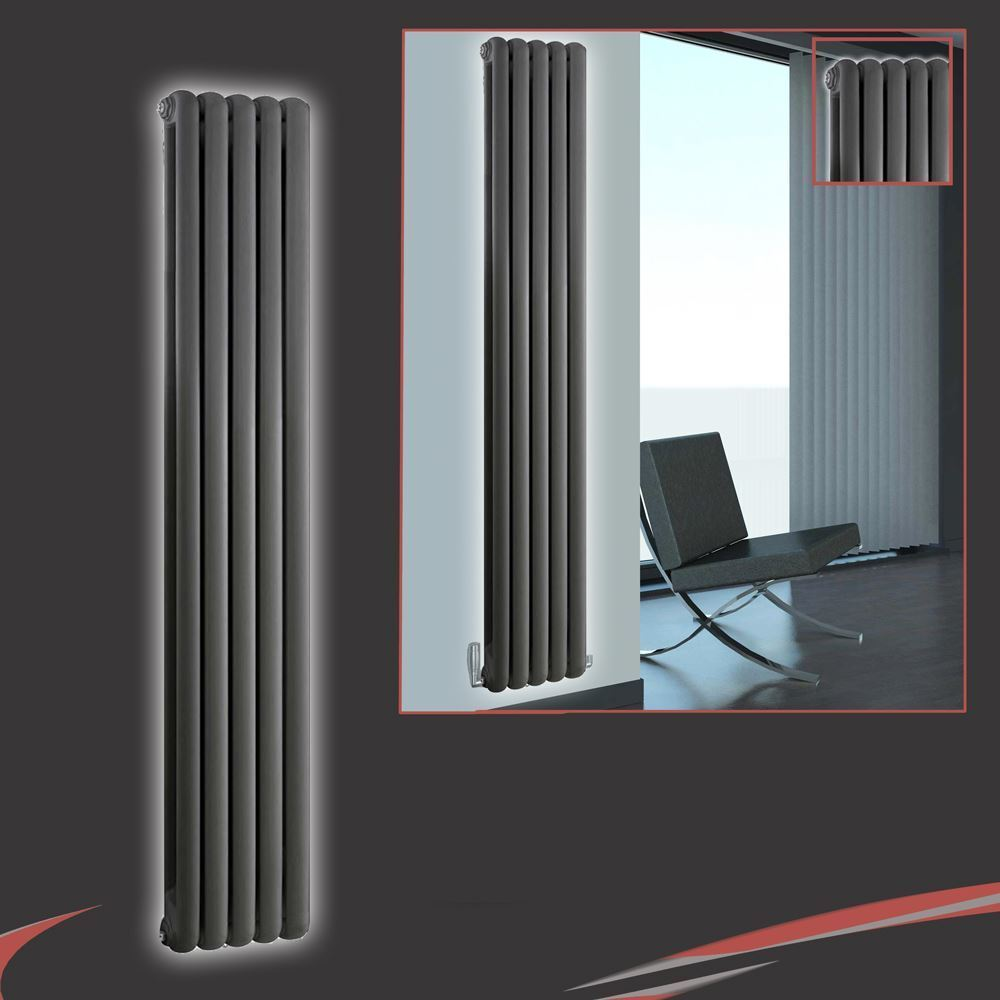 318mm (w) x 1 800 mm (h)  ELIAS  anthracite Multi-Column vertical radiateur 4420btus