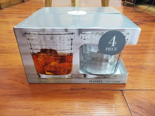 Circleware Windowpane Whiskey Drinking Glasses SET 12.5 oz 4