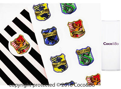 Coco&Bo 10 x Hogwarts School Houses Party Stickers Harry Potter Theme Decoration