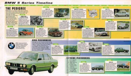M5,535i,525,M,528i,525e,530i,ALPINA,B10, BMW 5 Series Timeline History Brochure