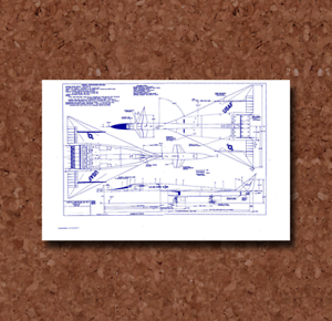 BP050 North American Valkyrie XB-70 Plan
