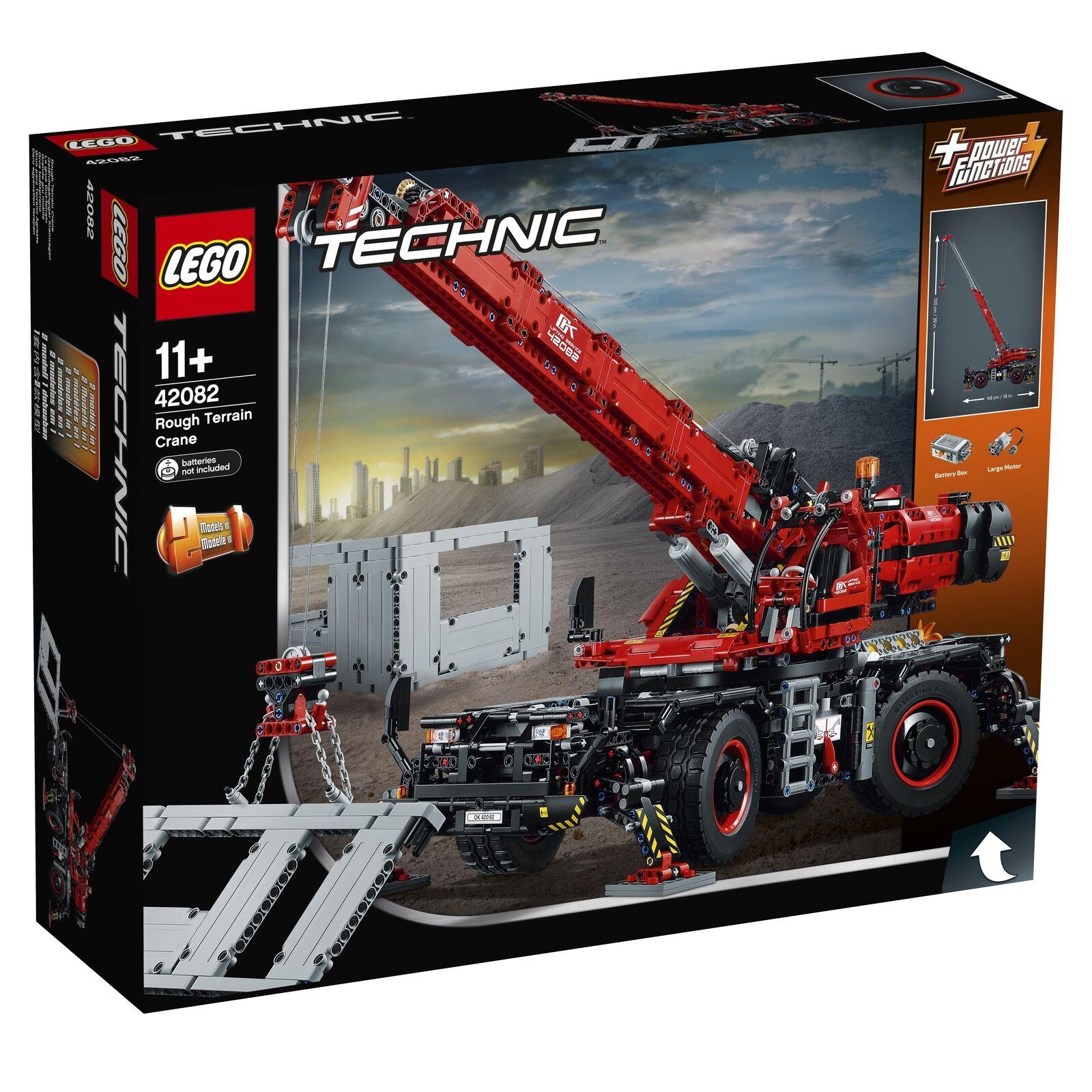 Boxed New Lego Technic Rough Terrain Crane (42082) Authentic Fast Delivery