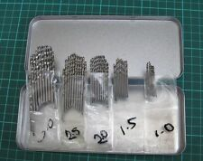 50PC Metric HSS High Speed Steel Jobber Drill Bits 1mm, 1.5mm, 2mm, 2.5mm & 3mm