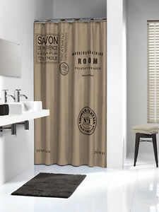 Extra Long Shower Curtain 72 X 78 Inch Sealskin Savon De Provence Linen