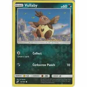 Common Reverse Holo Card Pokemon Sun /& Moon Team Up SM-9 TCG Vullaby 92//181