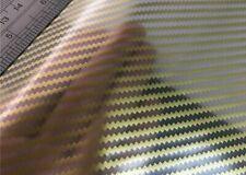 Carbon Fiber Gold New Water Transfer Dip Hydrographic Hydro Film 19x79 Au Pr