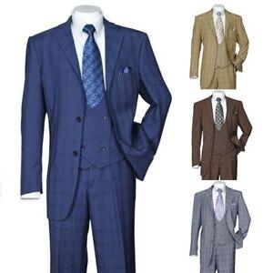 Men-039-s-3-Piece-Luxurious-Suit-With-Vest-amp-Pants-Two-Button-Two-Side-Vents