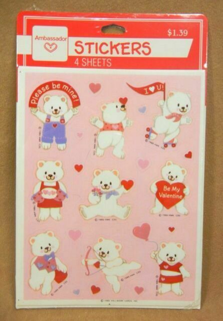 4 sheets in unopen package c Hallmark stickers Snoopy Peanuts