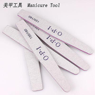 Nail Art Care Sanding Buffer Buffing Manicure Acrylic Gel File Tool 100/180 Grit