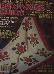 Lady-039-s-Circle-Patchwork-Quilts-May-1988-Old-Favorite-Patterns-Full-Size
