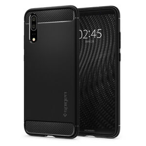 sale retailer ba017 dbcfe Details about Huawei P20 / P20 Pro Case | Spigen® [Rugged Armor] Black TPU  Shockproof Cover