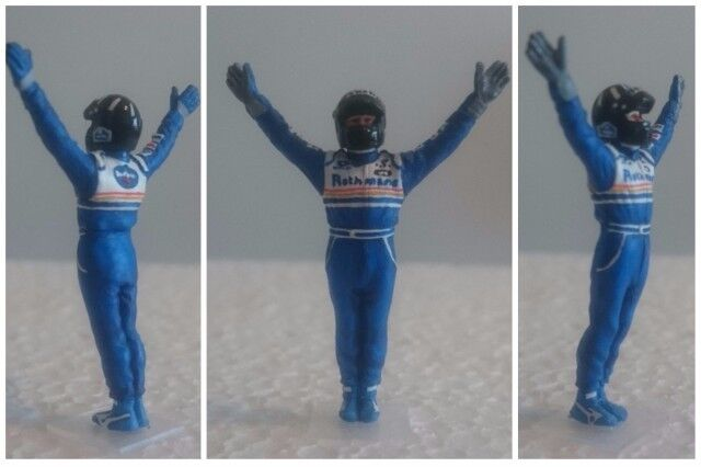 Damon HILL Williams Renault 1996 figurine pilote diorama  F1 driver figure