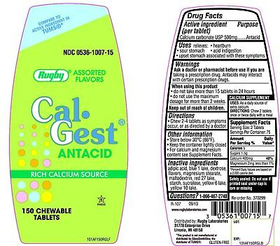 Collection Here Rugby Cal-gest Antacid 150 Chewable Tablets pack Of 10 Be Friendly In Use