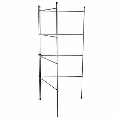 2 Fold Airer Clothes Gate Indoor Outdoor Horse Laundry Rail New By Home Discount
