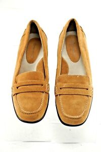 Rockport Tan Suede Penny Loafer Womens Size US 7.5 VGC | eBay