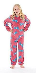 Warm Childrens Pyjama Suit Horse Print Full Zip Nightwear KIds Girls