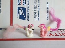 My Little Pony Vintage Petites Ponytails Ponies Pink and White