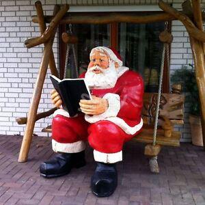 neuheit xxl weihnachtsmann nostalgie lebensgross deko garten figur weihnachten ebay. Black Bedroom Furniture Sets. Home Design Ideas