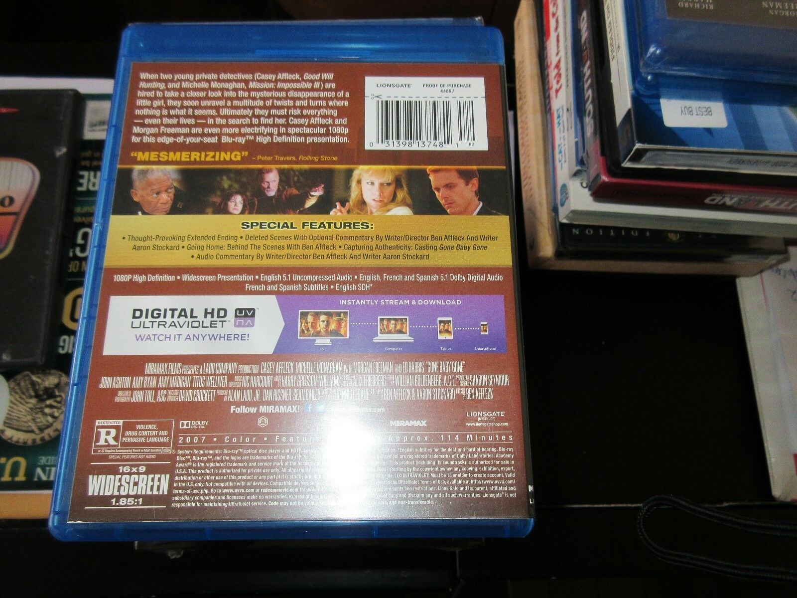 Gone Baby Gone , Blue-Ray Disc , DVD
