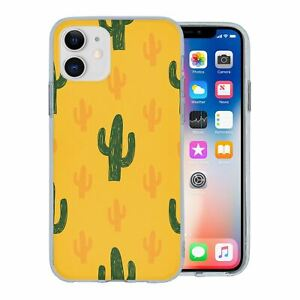 For-Apple-iPhone-11-Silicone-Case-Cactus-Pattern-S6611